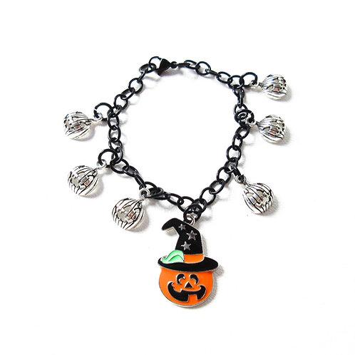 Halloween Jack O Lantern Bracelet