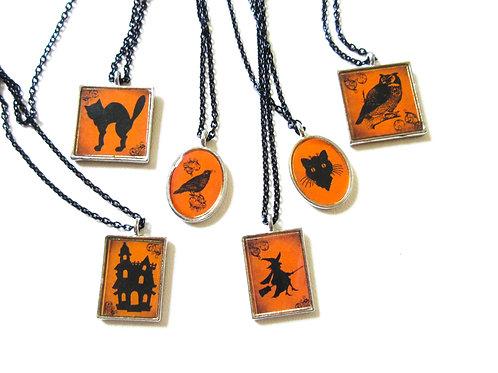 Halloween Tile Necklace