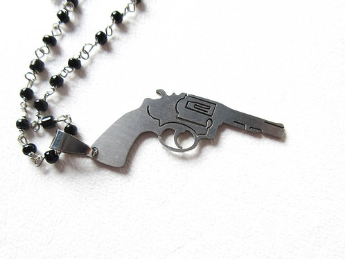 Gun rosary Necklace