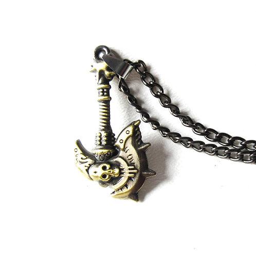 Skull Battleaxe Necklace