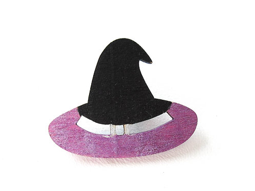 Hand Painted Witch Hat Pins
