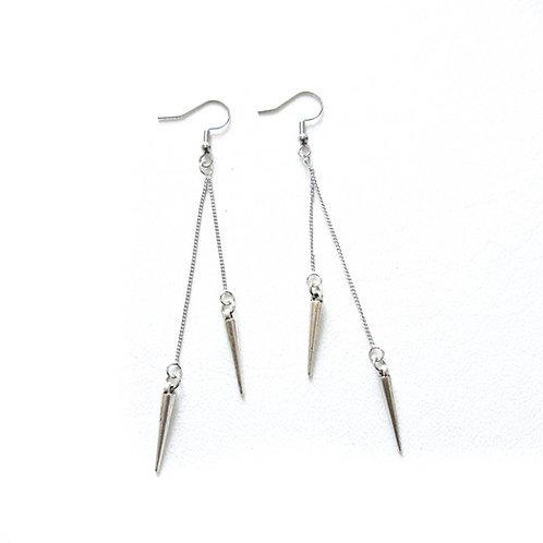 Spike Double Dangle Earrings