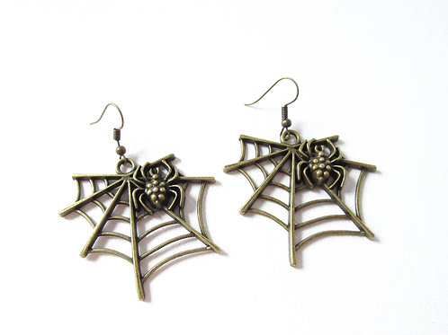 Large Spider Web Earrings