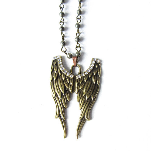Blinged Wing Necklace