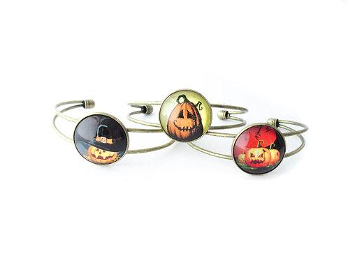 Jack O Lantern Cuff Bracelet
