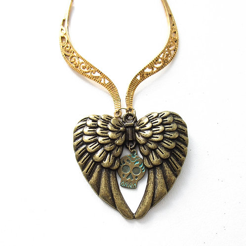 Skull and Wing Necklace