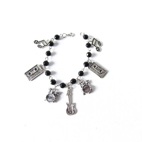 Rock and Roll Charm Bracelet