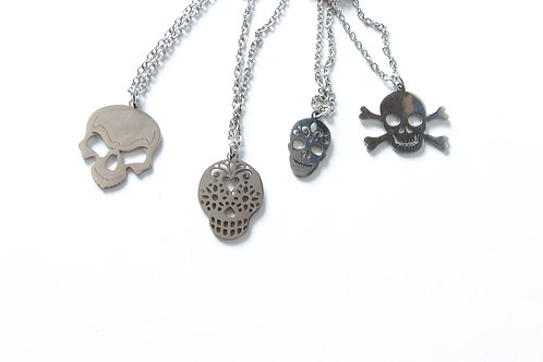 Stainless Steel Skull Necklace Choice of Four Designs