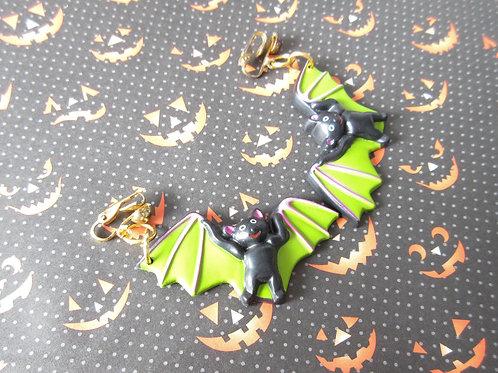 Vintage Plastic Bat Earrings