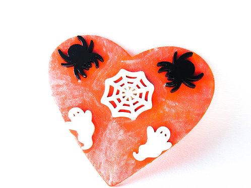 Halloween Heart Pin