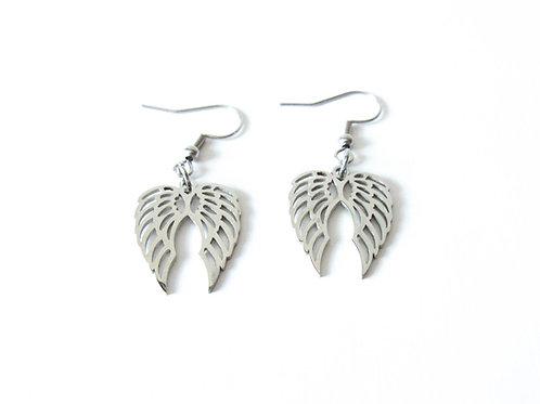 Stainless Steel Wing Earrings