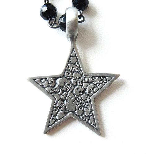 Skull Star Rosary Necklace