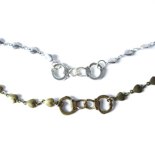 Slave to Love Bracelet Brass or Silver Tone