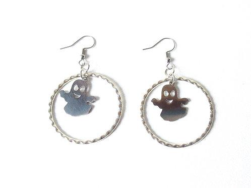 Stainless Steel Ghost Earrings