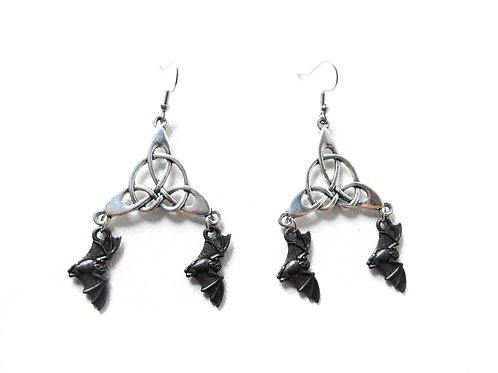 Celtic Bat Earrings