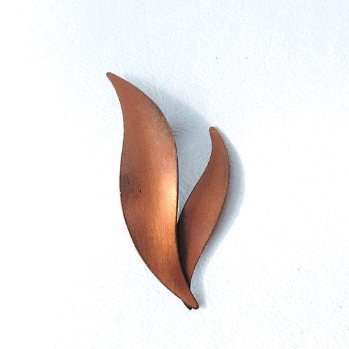 Vintage Copper Leaf Pin