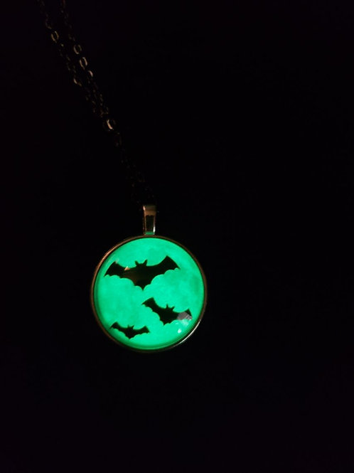 Glow in the Dark Bat Necklace