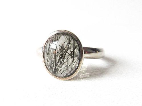 Sterling Silver Rutilated Quartz Ring