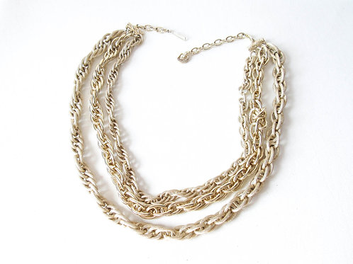 Vintage West Germany Triple Strand Necklace