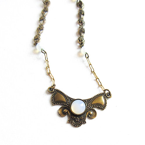Vintage Opaline Necklace
