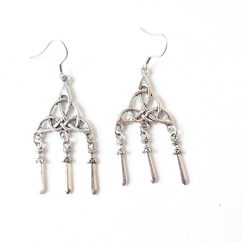 Celtic Dagger Earrings