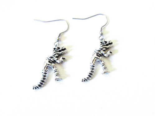 Dinosaur Skeleton Earrings