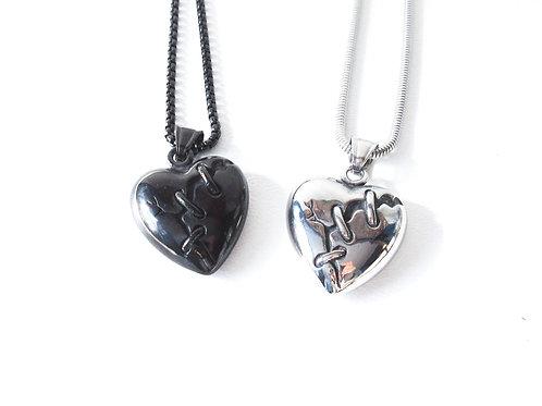 Frankenheart Necklace Black or Silver