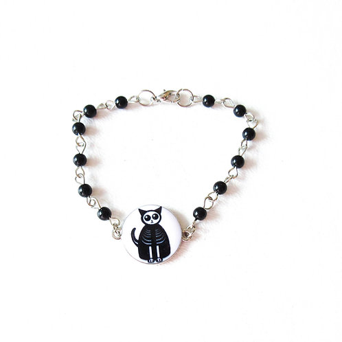 Skeleton Cat Bracelet
