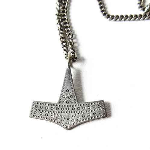 Vintage Jorgen Jensen Thor Hammer Necklace