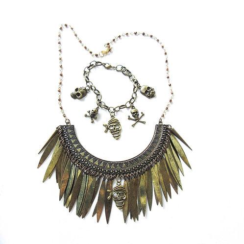 Pirate Goddess Necklaceand Bracelet Set
