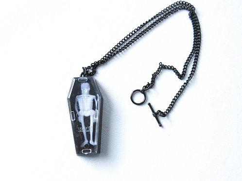 Plastic Coffin Necklace