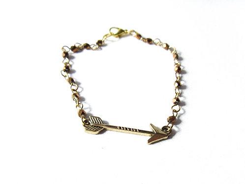 Gold Tone Arrow Bracelet
