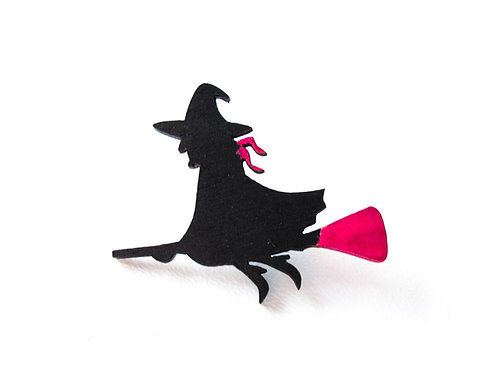 Hand Painted Witch Pins
