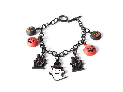 Enamel Halloween Theme Charm Bracelet