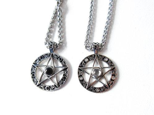 Stainless Steel Pentagram Necklace