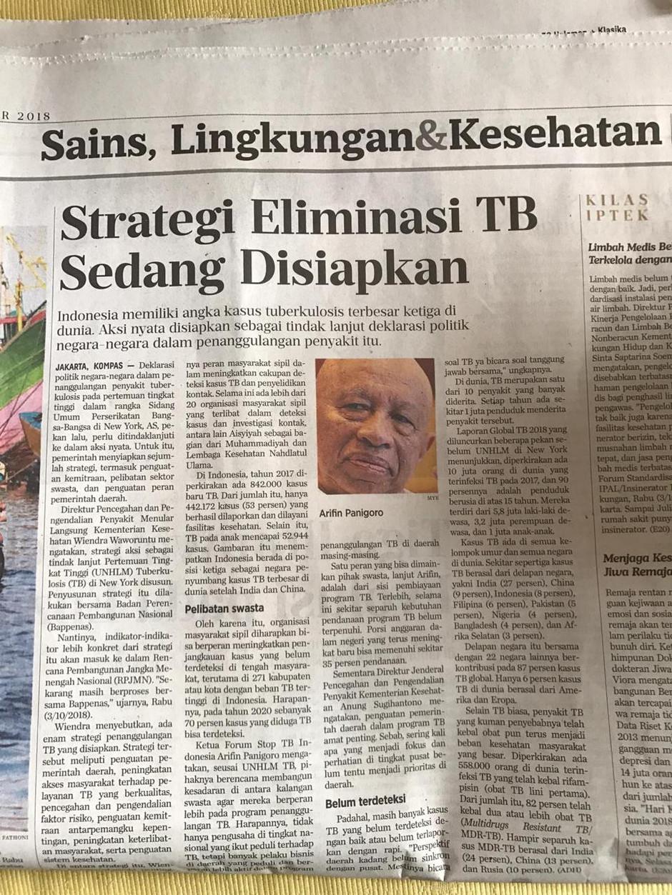 Strategi Eliminasi TB Sedang Disiapkan