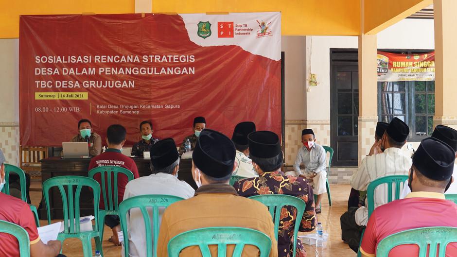 Sinkronisasi Upaya Penanggulangan TBC, Desa Grujugan Gelar Sosialisasi Rencana Strategis