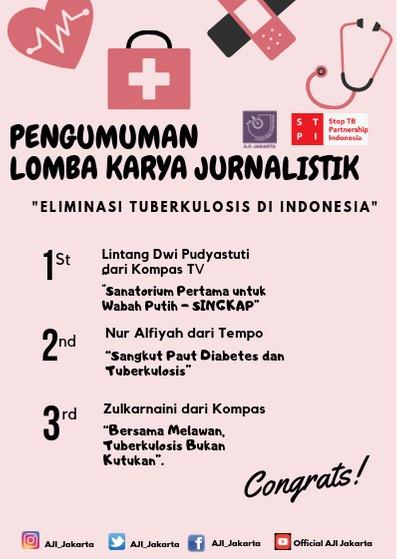 """3 Karya Terbaik Menang Lomba Karya Jurnalistik """"Eliminasi Tuberkulosis di Indonesia"""""""