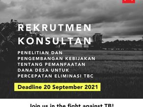Konsultan Penelitian dan Pengembangan Kebijakan Pemanfaatan Dana Desa untuk Percepatan Eliminasi TBC