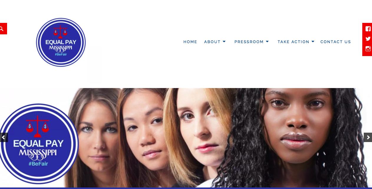Equal Pay Mississippi Website