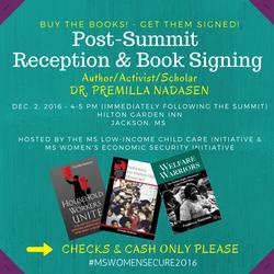 Post-Summit Reception/Book Signing