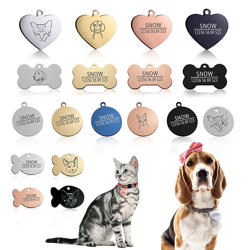 Pet Tags with Free Engraving