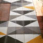 Mosaico de pasta, piso de paste. Concrete tile