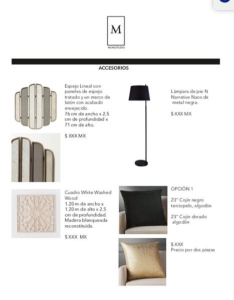 Lista de compras para interiorismo
