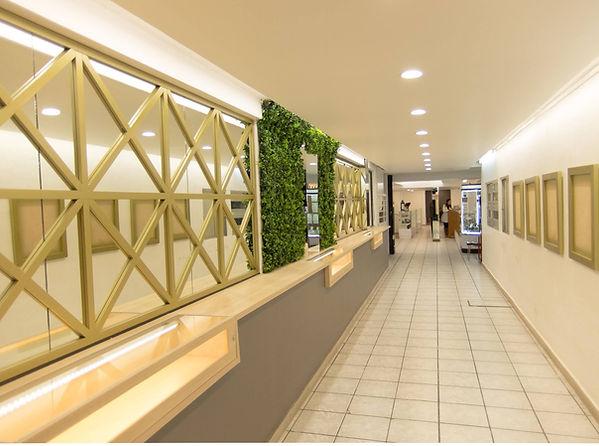 Retail, pasillo de acceso a joyería