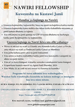 GTP Nawiri Boma, Swahili online poster - GO THROUGH TRAINING, EMPOWER THE COMMUNITY.jpg