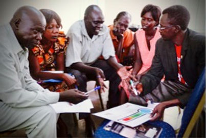 Juba 1 Gov Participants discussing Therm
