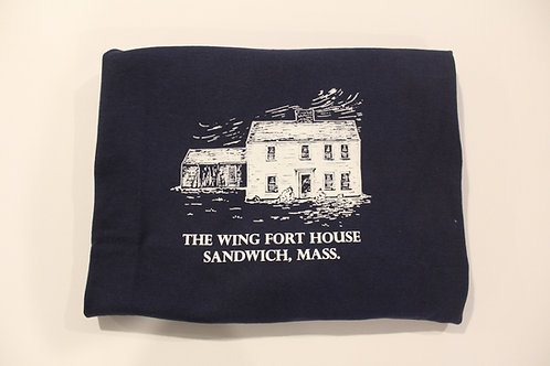 Navy Wing Fort House Adult Tee