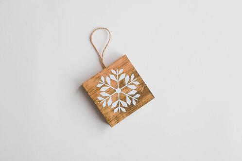 Boule de Noël - Flocon fleur