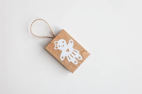 Boule de Noël - Gingergirl blanc
